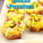Caesar Twice Baked Potatoes | leftover potatoes - foodmeanderings.com