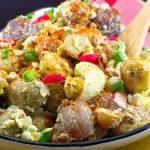 Pierogi Potato Salad | summer BBQ salad - Foodmeanderings.com