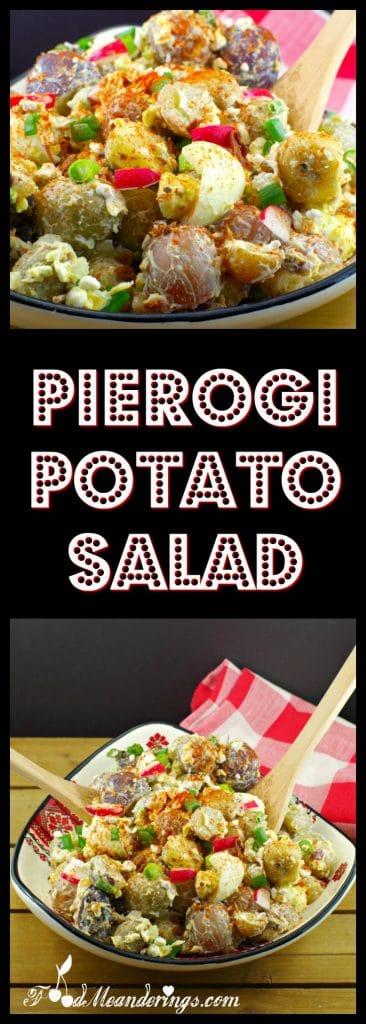 Pierogi Potato Salad | Ukrainian - Foodmeanderings.com