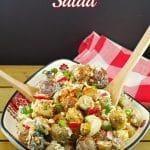 Pierogi Potato Salad  perogy - Foodmeanderings.com