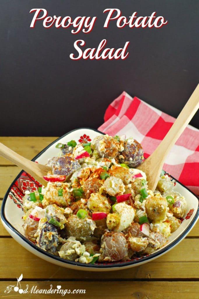 Pierogi Potato Salad |perogy - Foodmeanderings.com