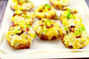 Caesar Twice Baked Potatoes | #twicebakedpotatoes - Foodmeanderings.com