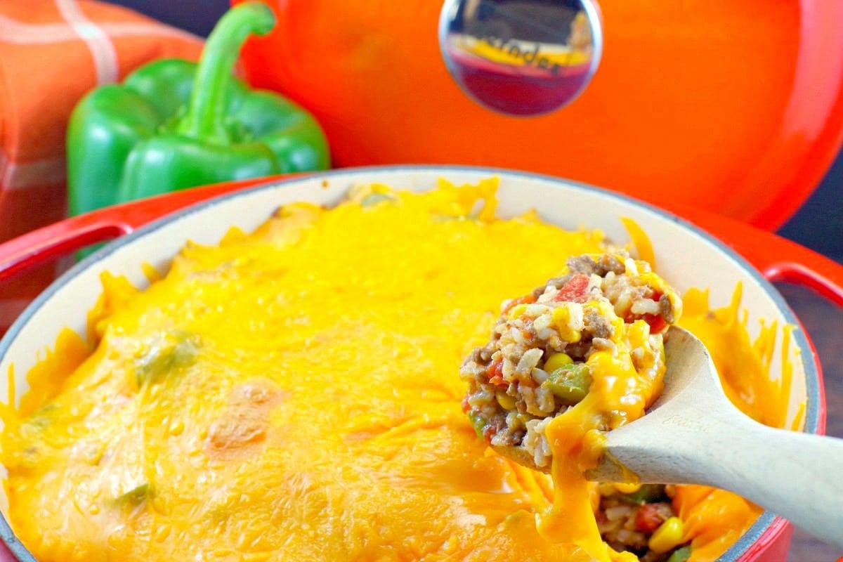 Stuffed Green Pepper Casserole - Foodmeanderings.com