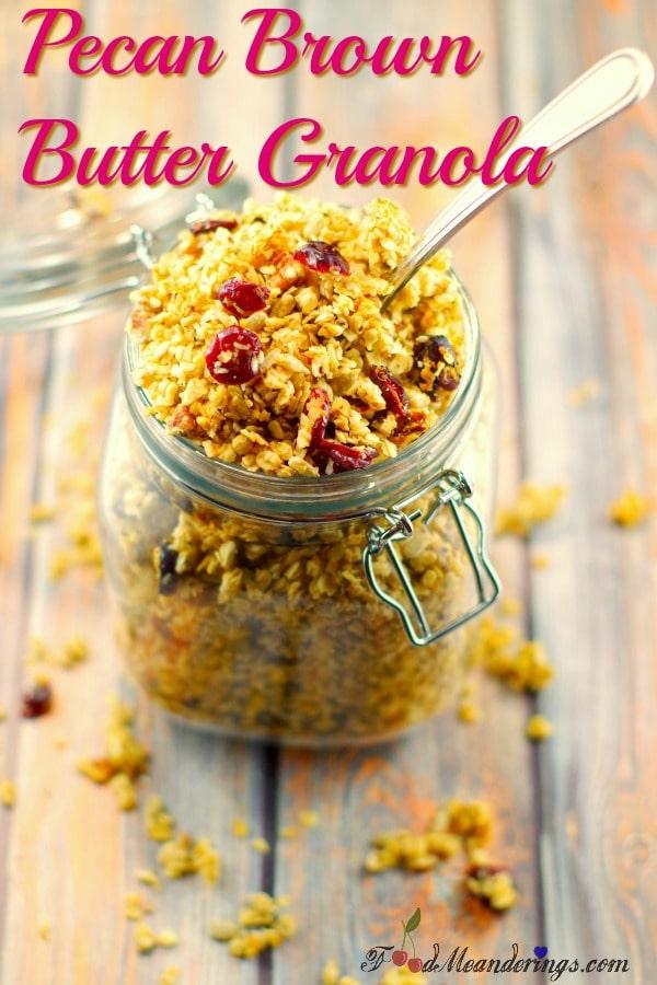 Pecan Brown Butter Granola | Award-winning - foodmeanderings.com