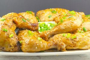 Chicken quarters with hoisin sauce | legs with thighs attached - foodmeanderings.com