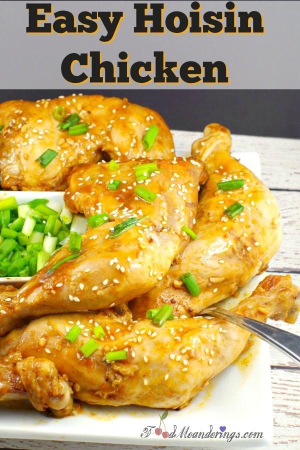 Easy & Quick Hoisin Chicken quarter | #chicken #asian - foodmeanderings.com