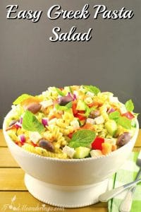 Easy Greek Pasta Salad | healthy - foodmeanderings.com
