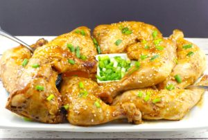 Easy Hoisin chicken quarters | legs and thighs - foodmeanderings.com