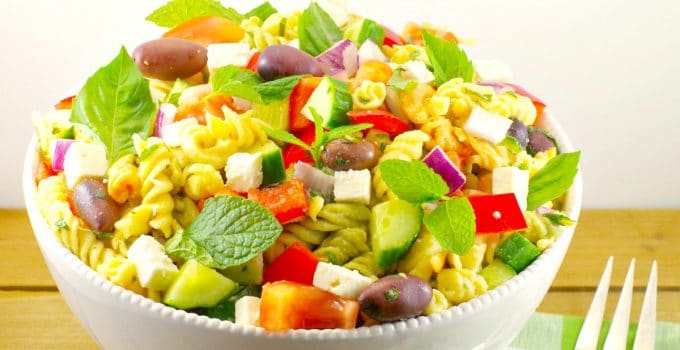 Easy Greek Pasta Salad Recipe: The Simple Things in Life