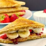 Pancake Breakfast Sandwich | PB&J- foodmeanderings.com