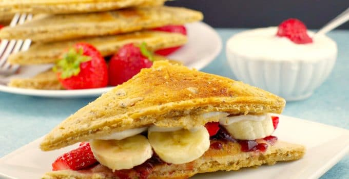 PB&J Pancake Breakfast Sandwich