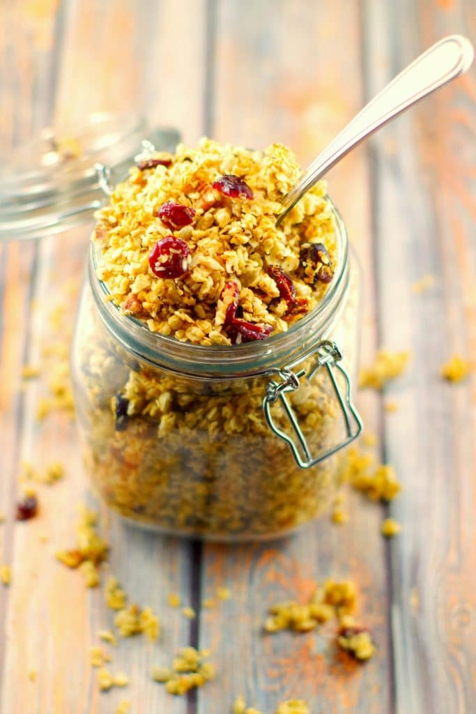Pecan Brown Butter Granola | healthy - Foodmeanderings.com