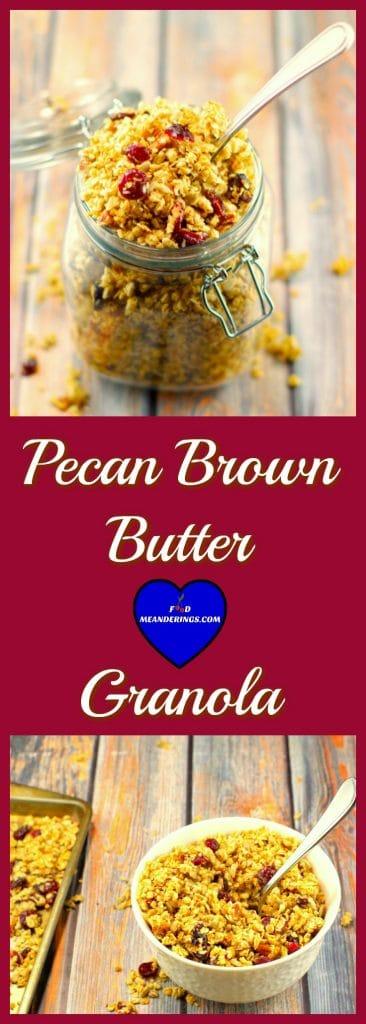 Pecan Brown Butter Granola | healthy -Foodmeanderings.com