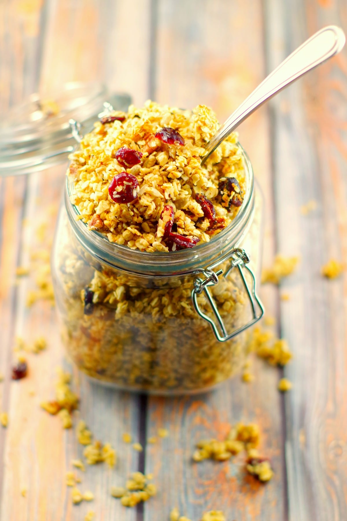 Pecan Brown Butter Granola | healthy - Foodmeanderings.com