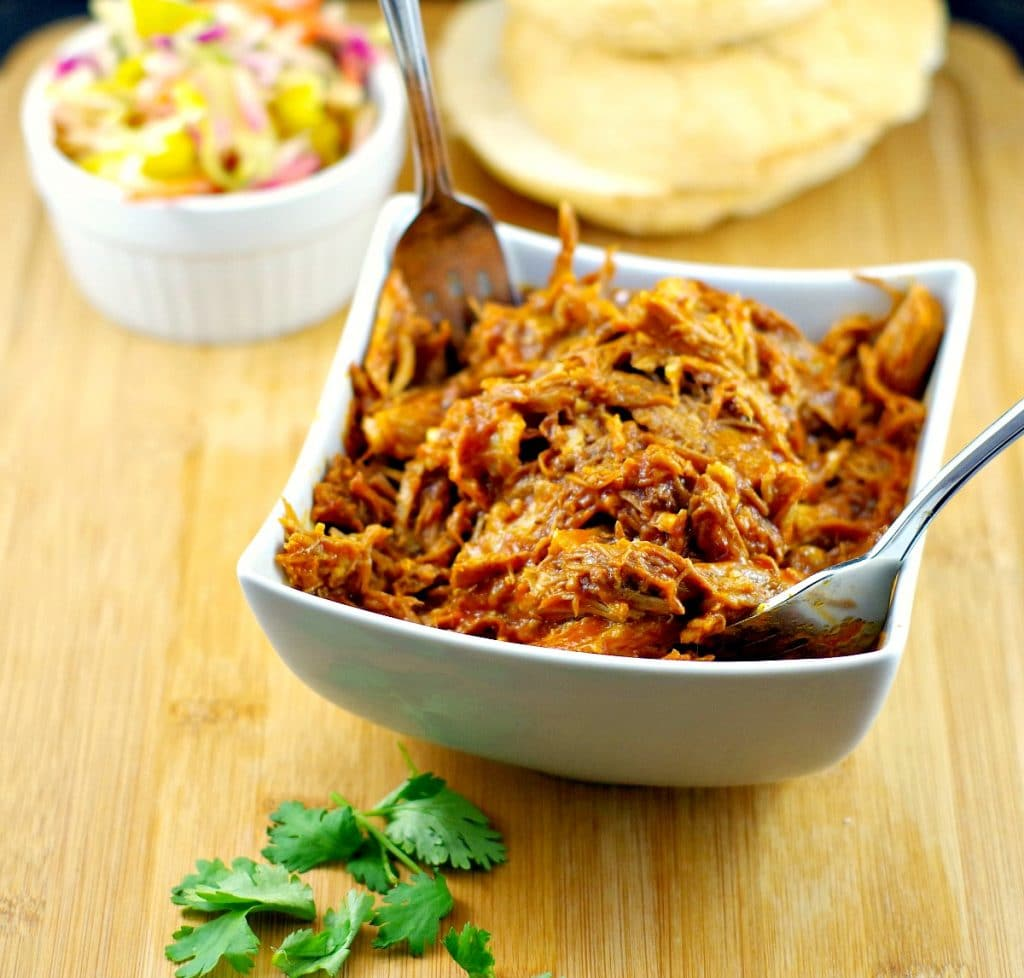 Slow cooker pulled pork recipe | #crockpotpulledpork - Foodmeanderings.com
