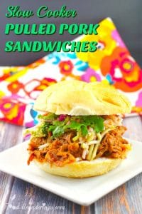 Slow Cooker Pulled Pork Sandwiches - foodmeanderings.com