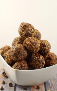 Chocolate Cherry Coconut Energy Bites | healthy - Foodmeanderings.com