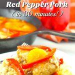 Mandarin Orange & Red Pepper Pork - 30 minute easy pork dinner - foodmeanderings.com