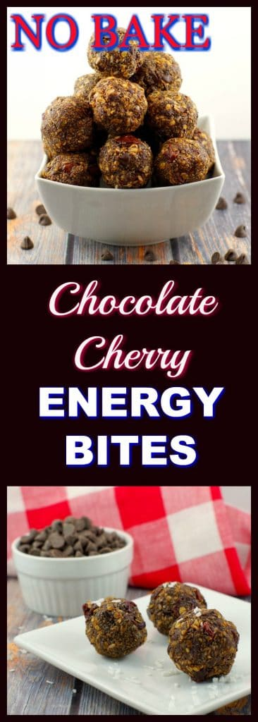 No bake Chocolate Cherry Energy Bites | Foodmeanderings. com