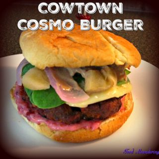 "UP YOUR BURGER GAME WITH THIS CONTEST WINNING ""COWTOWN COSMO SIRLOIN BURGER"""