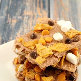Chocolate Rocky Road Frozen Yogurt Bark