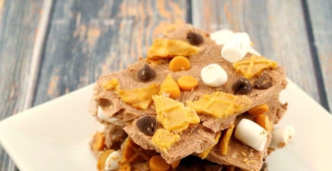 Rocky Road Froyo Bark: The 5 Minute Weight Watchers Friendly Treat!