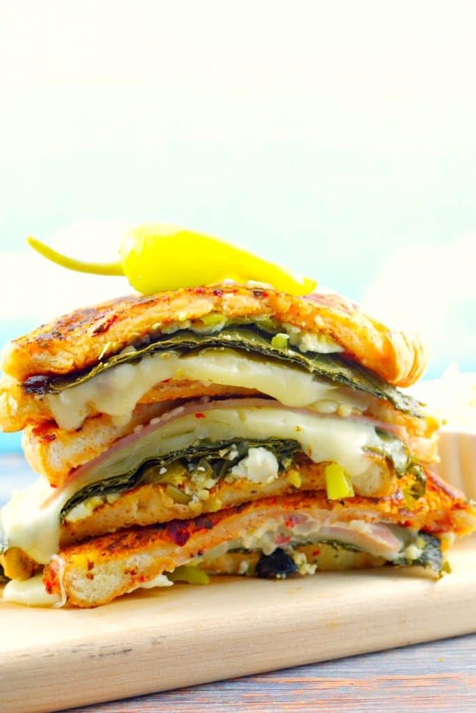 Gourmet Mediterranean Monte Cristo Sandwich - foodmeanderings.com