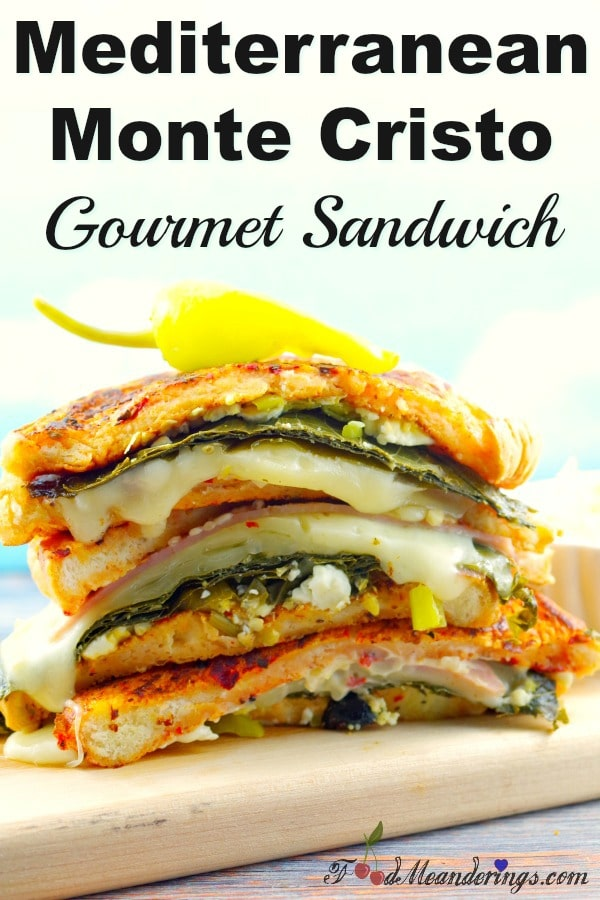 Mediterranean Monte Cristo | gourmet sandwich - foodmeanderings.com