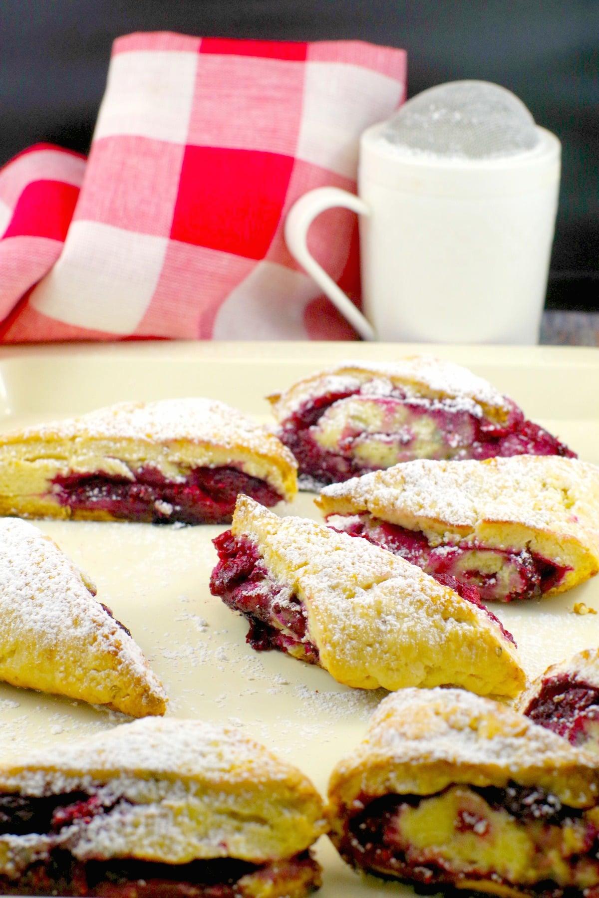 Raspberry Lemon Scone | #raspberryscone #lemonscone - Foodmeanderings.com
