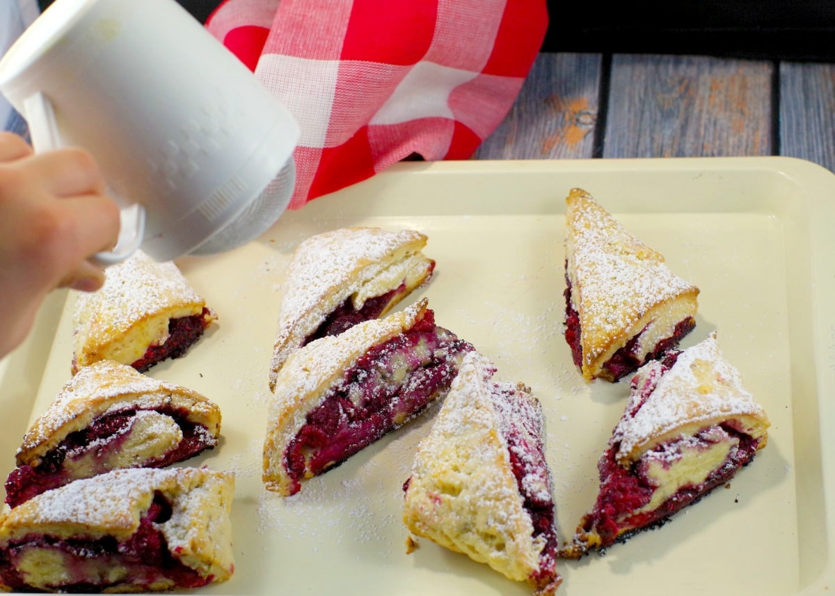 Raspberry Lemon scones - foodmeanderings.com