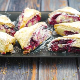 Raspberry Lemon Scones & Raspberry Picking Adventures