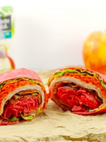 Turkey Club Ranch Wrap - tortilla wrap - Foodmeanderings.com