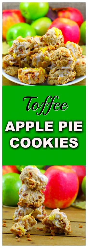 Award-winning Toffee Apple Pie Cookies | #applecookies - Foodmeanderings.com