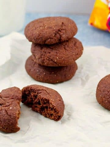 beet cookies on a piece of parchment paper
