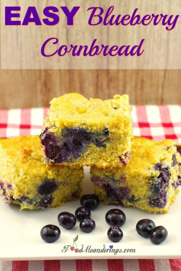 Easy Blueberry Cornbread | #blueberry #cornbread #southern