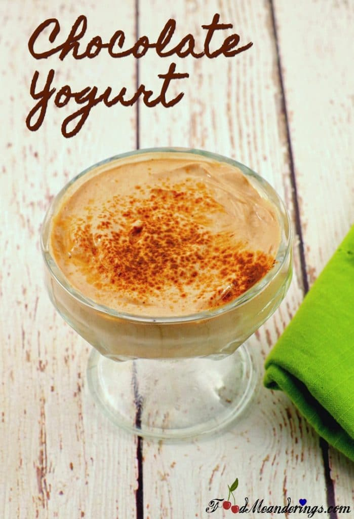 Healthy Homemade Chocolate Yogurt | #chocolate #yogurt - Foodmeanderings.com