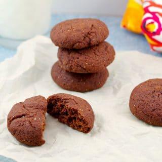 Healthy Red Velvet Cookies | no red dye