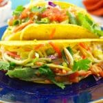 Healthy fish tacos with slaw- foodmeanderings.com