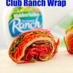 The 5 minute turkey club ranch wrap - foodmeanderings.com