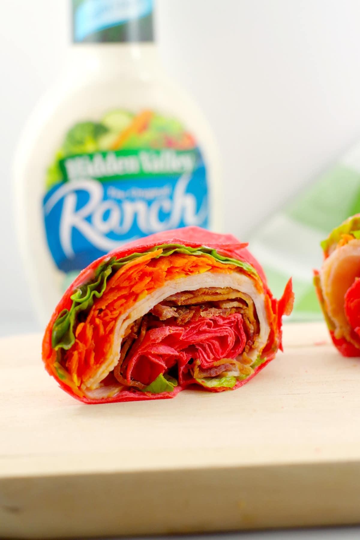 Turkey Club Ranch Wrap - tortilla wrap - Foodmeandering.com