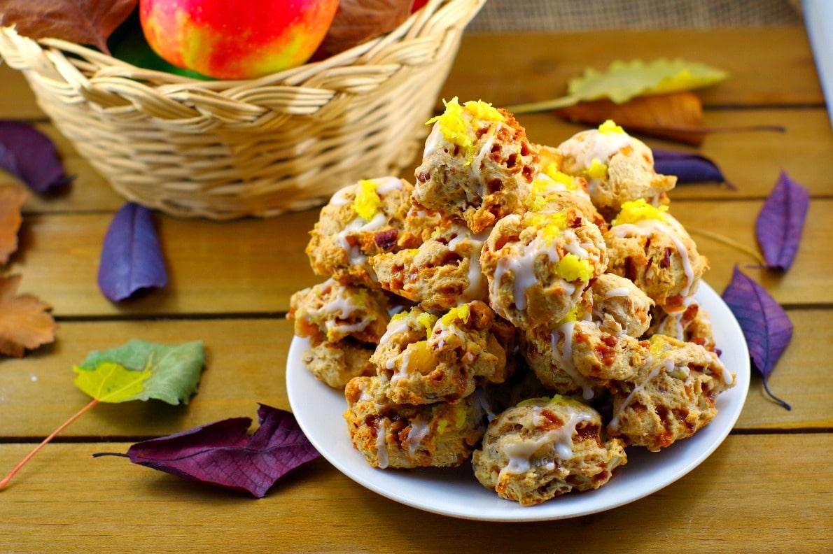 Toffee Apple Pie Cookies Recipe | #applecookies - Foodmeanderings.com