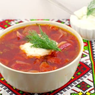 Ukrainian Beet Borscht Recipe| shortcut - foodmeanderings.com