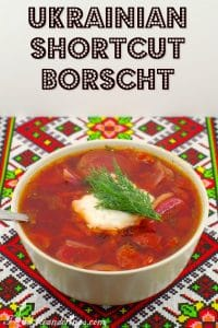 Ukrainian Shortcut Beef Borscht - foodmeanderings.com