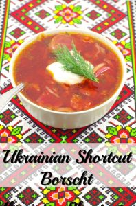 Ukrainian Shortcut Borscht - weight watchers - foodmeanderings.com