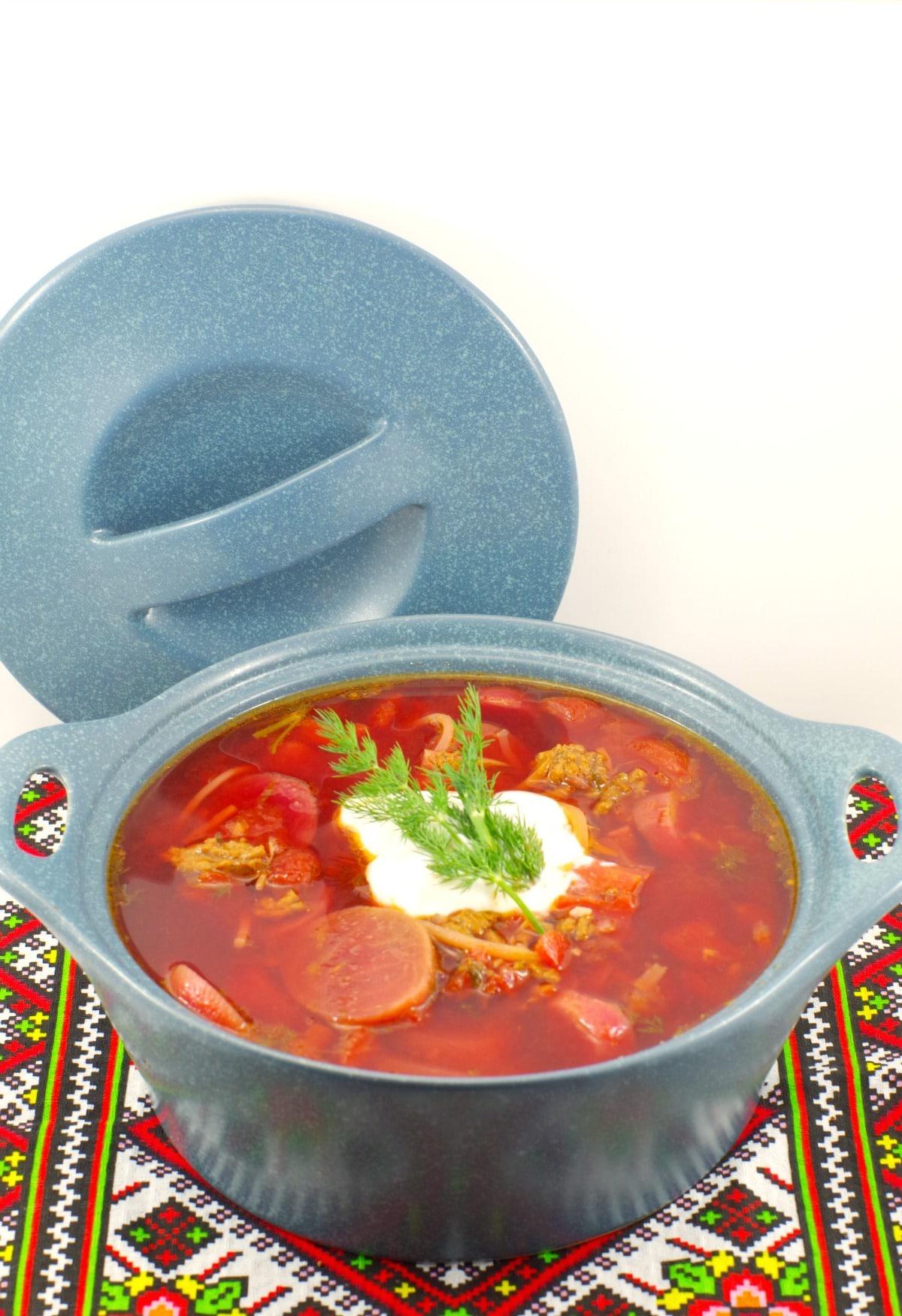 Ukrainian Borscht | shortcut - foodmeanderings.com