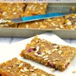 Vegan Fruit & Oat bar - nut, gluten, dairy, egg and sugar free- foodmeanderings.com