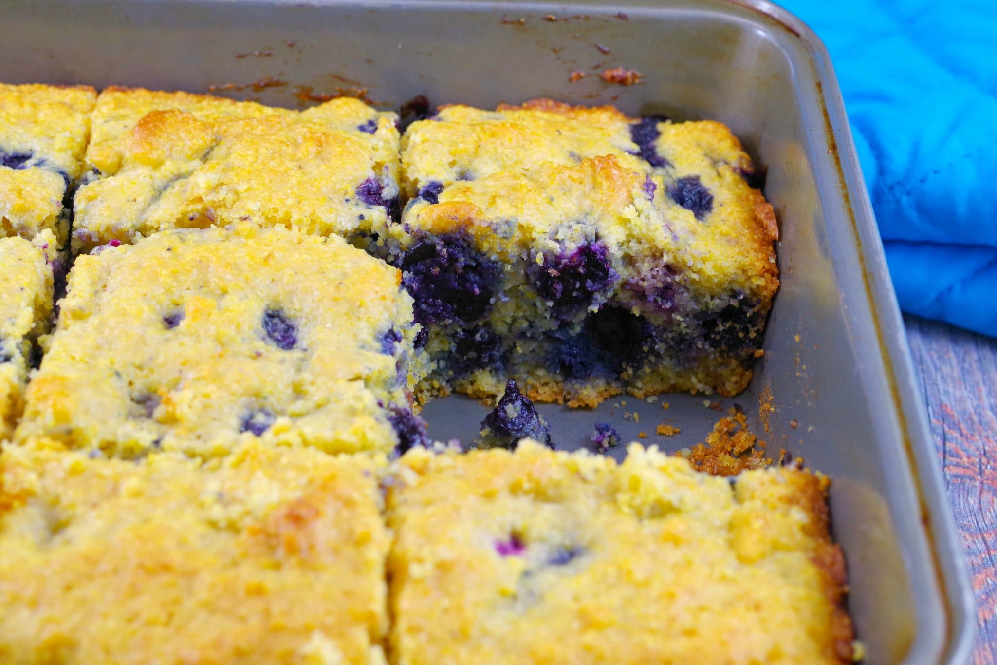 Blueberry Cornbread   southern - foodmeanderings.com