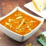 EasyCreamy Carrot Soup| no cream -Foodmeanderings.com