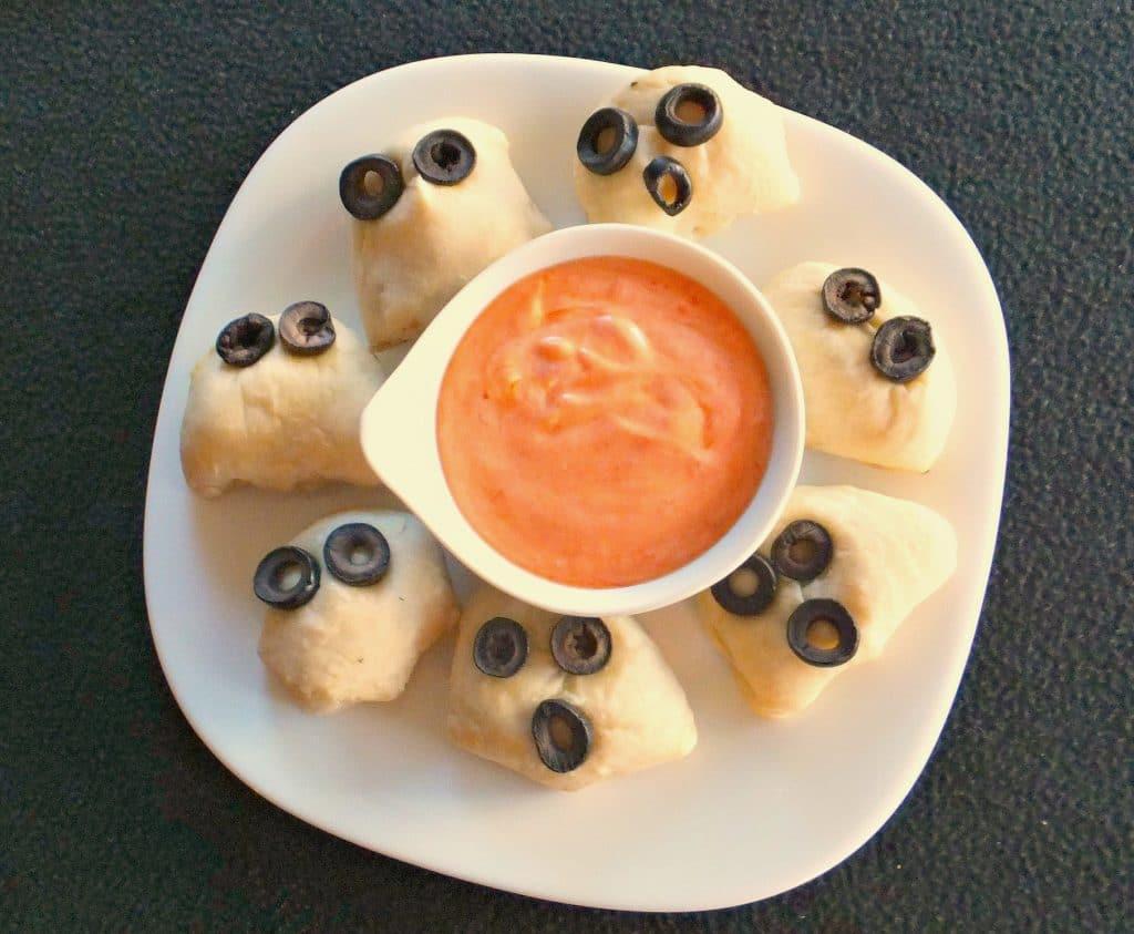 Pierogi Pizza Poppers | Halloween snack - foodmeanderings.com