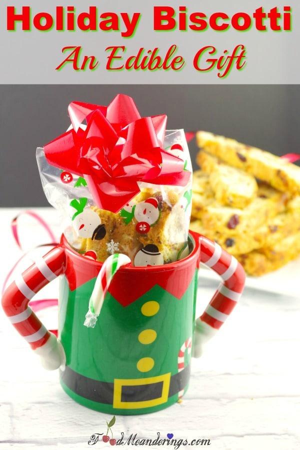 Holiday Biscotti   #biscotti #ediblegift #cranberry